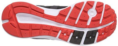 Reebok Zone Cushrun 2.0, Chaussures de Course Femme Noir - Schwarz (Coal/Laser Red/Black/White)