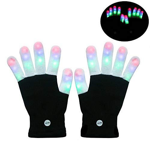 ANLW Licht aufleuchten Handschuhe LED-Flaschen Beleuchtung Finger Licht blinkt Strobe Handschuhe Party, Geburtstag