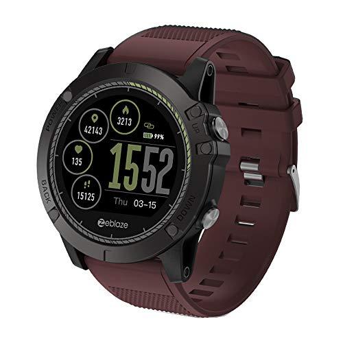 Yallylunn Zeblaze Vibe 3 HR Smart Watch Phone Sports Men Smartwatch einfach ultraschlank genaue Messdaten for iOS/Android Kompatibel mit Android Handys