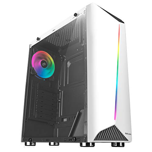Mars Gaming MCX Blanca - Caja PC, Cristal Templado, Ventilador RGB Dual...