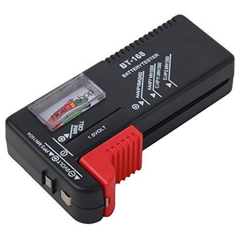 niceeshop(TM) Testeur de Batterie pour AA / AAA / C / D / 9 Volts et le Bouton Rectangulaire Piles