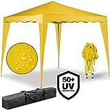 Pabellón Capri | 3x3 m | color amarillo | Carpa Plegable Tienda de Jardín Protección Solar | Pop Up |
