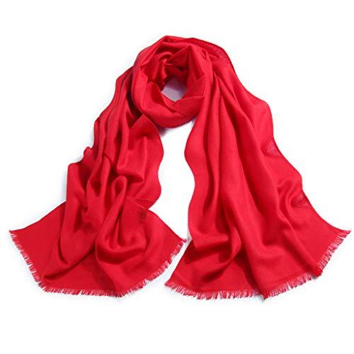 En Pure Laine Sauvage Automne Et Hiver Tendance De La Mode Annuelle Élégante Écharpe Châle (Color : Red)