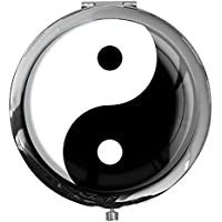 "metALUm - Extragroße Pillendose in runder Form""Ying Yang"" preisvergleich bei billige-tabletten.eu"