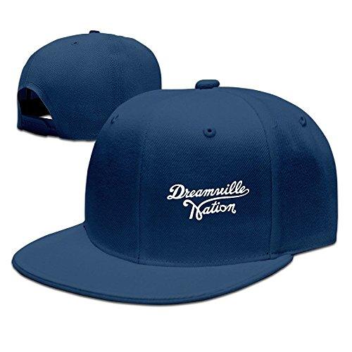 62412a9363a yhsu kruny Custom dreamville Records Logo Adjustable Baseball Hat Cap Navy