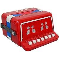 Instrumento musical acordeón rojo del juguete de Oypla 7 Claves 2 Bass niños