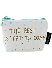 Bolsa BIGBOBA hecha de algodón. Bolsa de cosméticos pequeña y portátil para mujeres y niñas, lona, Style 3,…