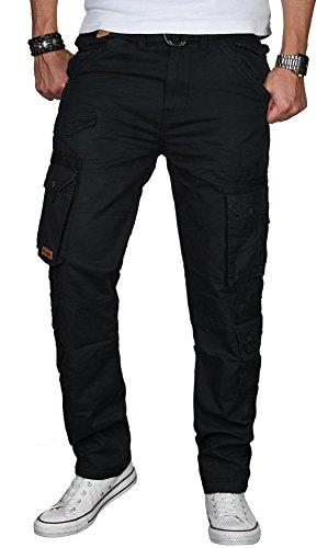 Stylische Herren Cargo Hose Freizeit Outdoor Army Pant inkl. Gürtel B492