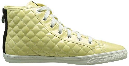 Geox D NEW CLUB A, Baskets hautes femmes Jaune (C2004)