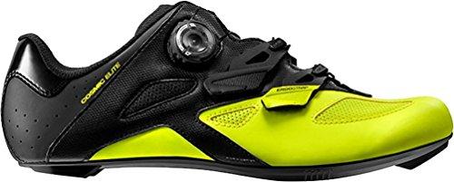 MAVIC Cosmic Elite Scarpe Strada Uomo, Black/Black/Safety Yellow - Nero, 42