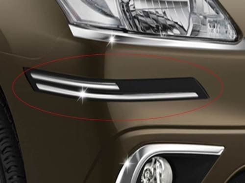 Delhitraderss -Rubber With Chrome Car Bumper Protector Guard Molding - Hyundai I10 Type-1