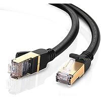 UGREEN Cavo di Rete, Cat 7 Cavo Ethernet Gigabit Cavo Lan RJ45, 10 Gbps 600Mhz 10000Mbit/s Cavo Patch Cavo STP per Switch Router Modem Patchpannel Access Point, Compatibile con CAT5/CAT5e/Cat6 (2m)