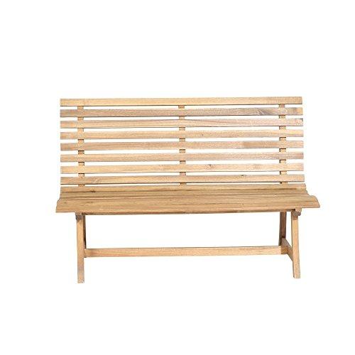 Siena Garden 2er Bank Santana, 67,5x140x92,5cm, Akazienholz, geölt in natur, FSC 100% - 2