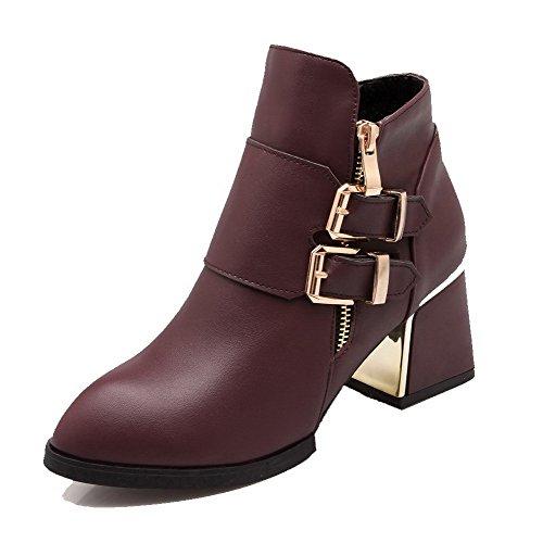 allhqfashion-womens-pu-low-top-solid-zipper-kitten-heels-boots-claret-38