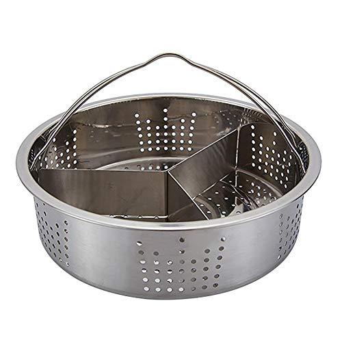 Panier à Vapeur en Acier Inoxydable, Cuiseur À Vapeur Steam Basket Autocuiseur Anti-brûlure Steamer Multi-Fonction Fruit pour la Cuisine
