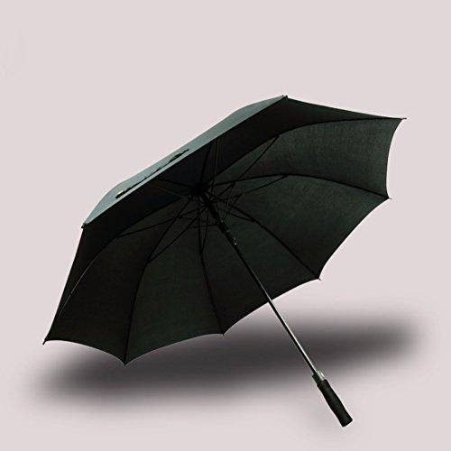 Cnbbgj doppia grande con manico ombrello doppio rinforzo business automatico antivento ombrello uomini donne ombrello ombrello da golf,120cm nero classico