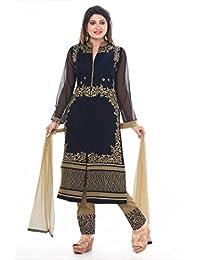 Krusha Art Navy Blue Colour Straight Salwar Suit