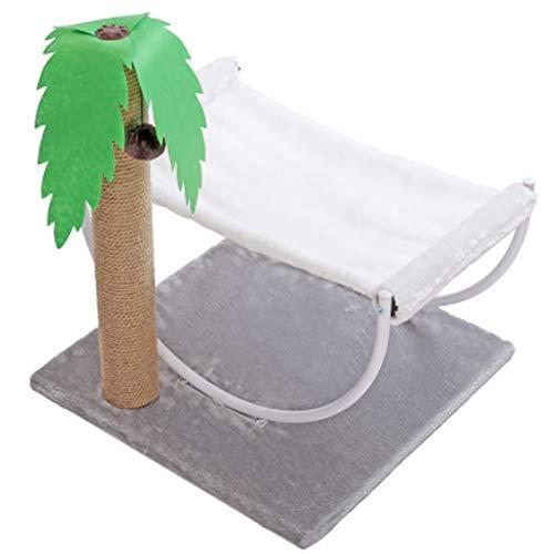 PJDDP Kratzbaum Katze Klettergerüst Mit Spielzeug, Sisalsäule, Sprungplattform Für Katze