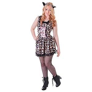 Bristol Novelty TC112 Leopard Cutie - Disfraz de leopardo para adulto, para mujer, talla pequeña