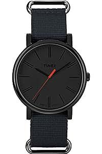 Timex - T2P372 - Originals - Montre Mixte - Quartz Analogique - Cadran Noir - Bracelet Nylon Noir