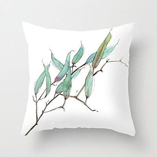Luglio nuove foglie federa Copri Cuscino Decorazione Casa