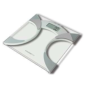 Salter digitale Analysewaage - elektronische Personenwaage mit Analysefunktion, Messung von Gewicht, BMI, Körperfettanteil Körperwasser, schlankes Design, robustes 6mm Glas, leicht lesbares Display