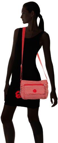 Kipling Syro - Sac Bandoulière Femme Rouge (Chevron Red Pr)