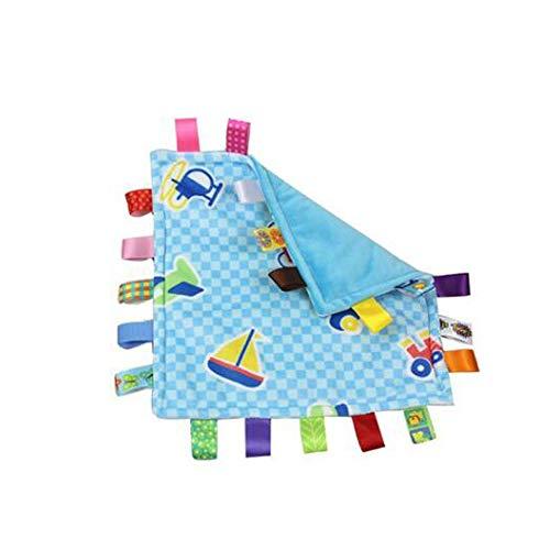 Baby Boy Tag Couverture de sécurité - Sécurité en peluche Consolateur Couvertures Tag, Super Soft Security Blanket Jouet meilleur cadeau de douche pour bébé