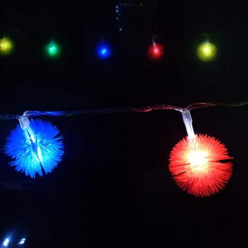 Haar Ball String String Haar Ball String String ebay Schneeball Löwenzahn heißer Verkauf Laterne Bar Dekoration Beleuchtung im Freien, 2 Meter 20LED Akku-Modelle, 5