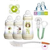 MAM Anti Colic Starter Set Neugeborenen-Set Neutral ab Geburt inkl. 2 x Sauger Gr. 2, 2 Monate +