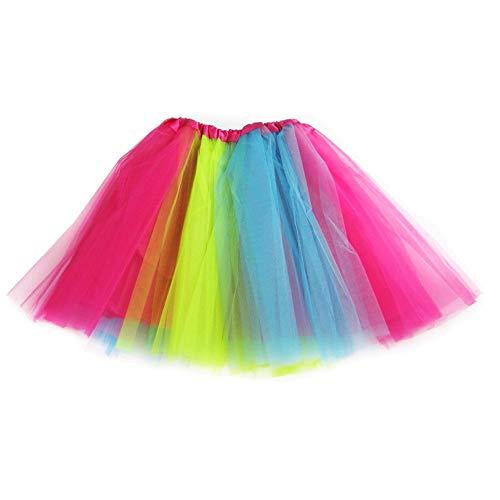 Ksnrang Tutu Falda de Mujer Falda de Tul 50's Short Ballet 3 Capas Accesorios de...