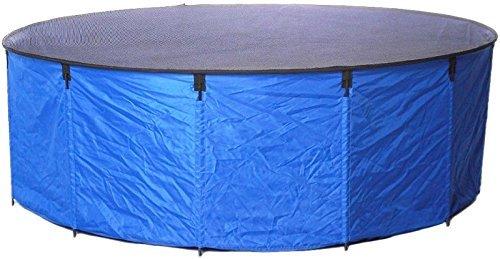 """Aquaforte Flexibles Faltbecken """"Koi bowl"""", Ø 180 x H 60 cm (± 1500 Liter), inkl. Abdecknetz und praktischer Tragetasche, blau Test"""