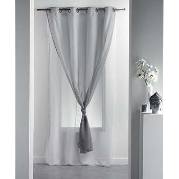 Miulee lino voile tenda finestra con occhielli tenda a for Tenda vela ikea