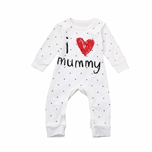 KaloryWee Cool Baby Clothes Romper Jumpsuit Long Sleeve Pajama Clothes