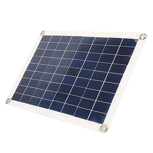 15W Solar Energy Panel, 5V Dual USB Monokristalline Flexible Solar Power Panel für Autobatterie, Ladegerät Controller (Solar-panel 15)