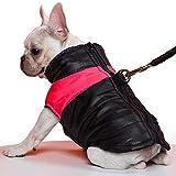 TFENG Hundemantel Hundejacke für Hunde, Warm Gepolstert Puffer Weste Welpen Regenmantel mit Fleece (Rot, XL)