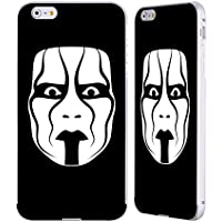 Ufficiale WWE The Mask Sting Argento Cover Contorno con Bumper in Alluminio per Apple iPhone 6 Plus / 6s Plus