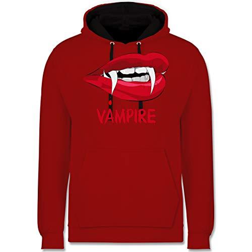Shirtracer Halloween - Vampire Blut - S - Rot/Schwarz - JH003 - Kontrast Hoodie