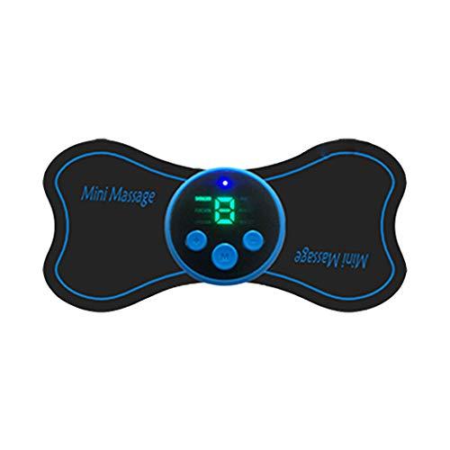 Tragbares Mini-Zervikalmassagegerät, aufladbares elektrisches Nackenmassagegerät Zervikalmassagestimulator Schmerzlinderung (Digital display)