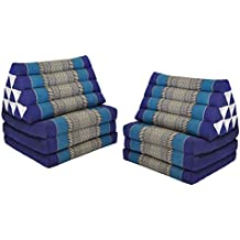 wifash Set de 2 Cojines triangulo tailandés, con colchón Plegable 3 Pliegues, Fabricado en