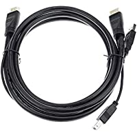 Adwits 1.8M USB HDMI KVM Cable, HDMI A macho y USB 2.0 A macho a HDMI A macho y USB 2.0 B macho, negro