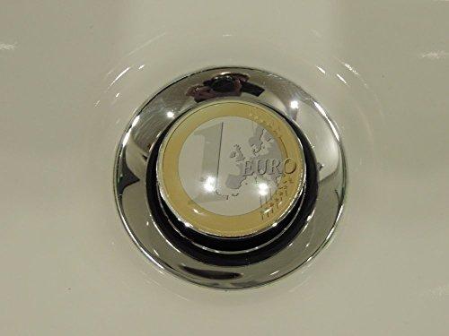 Preisvergleich Produktbild Waschbecken Stöpsel Abfluß Stopfen 1Euro