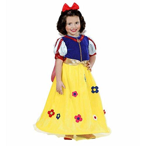 Widmann 1285F Kostüm für Kinder Prinzessin Märchen Schneewittchen, Größe (Märchen Hexe Samt Kind Kostüm)