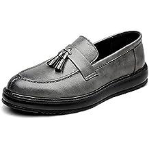 43596ffa135fa Zapatos Casuales Negocio de los Hombres Zapatos de Cuero de la PU Mocasines  Borla Colgante Decoración