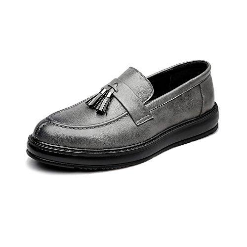 Klassischer Skateboard-schuh (Fashion Classic Oxford Schuhe Herren Business formale PU Leder Schuhe klassische Skateboard flache Schuhe Quaste Anhänger dekorative Außensohle Oxford Schuhe Retro Temperament Oxfords)