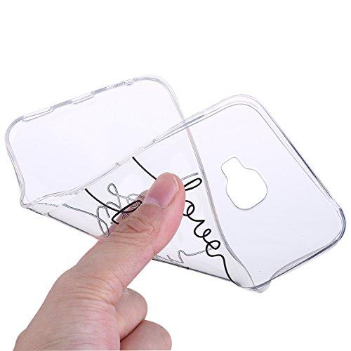 Handytasche Asus ZenFone 4 selfie pro ZD552KL Hülle,Asus ZenFone 4 selfie pro ZD552KL Schutzhülle,Hpory Kreative Schön [Crystal Clear] Durchsichtig Dünn Tpu Silikon Bambuspanda Muster Transparent Ultr Love Laugh Life