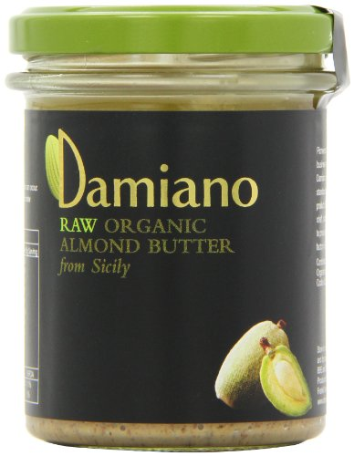 Damiano Organic Raw Almond Butter 180 g (Pack of 2)