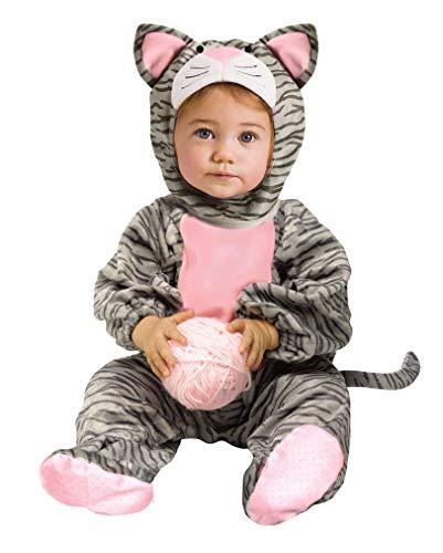Horror-Shop Kuschelweiches Kätzchen Babykostüm für Fasching & Karneval S