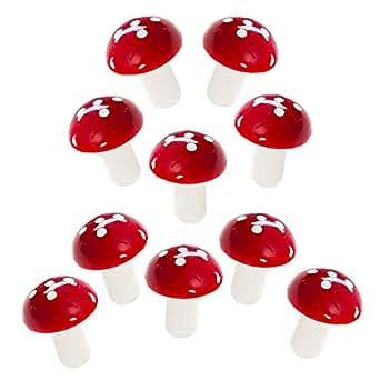 esto24 LED mushroom light string fly agaric mushrooms 10 battery luminous fungi Christmas Decoration