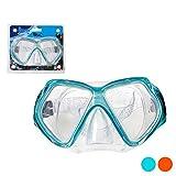 BigBuy Outdoor Occhiali da Immersione in PVC. S1123064, Adulti Unisex, Blu, Unico